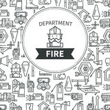Banner Fire Department. Logo firefighter in a helmet Royalty Free Stock Images