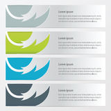 Banner fire  pattern  Green, blue, gray color. Vector design eps10 Stock Photo