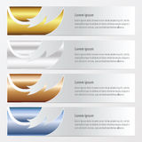 Banner fire  pattern style  gold, bronze, silver, blue color. Vector design eps10 Royalty Free Stock Image