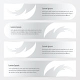 Banner fire  pattern style  white color Stock Images