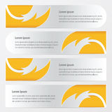 Banner fire  pattern style yellow color. Vector design eps10 Royalty Free Stock Photo