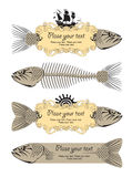 Banner with fish Royalty Free Stock Image