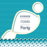 Banner with fish Stock Photo