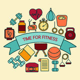 Banner for fitness Stock Photos