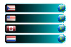 Banner with flag and globe vector Royalty Free Stock Photo