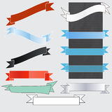 Banner and flag set Royalty Free Stock Image