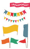 Banner, flag. Set of colored hanging flags and banners Royalty Free Stock Photos