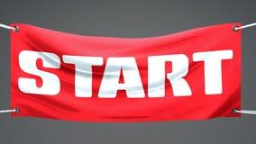 Banner flag start, Royalty Free Stock Images