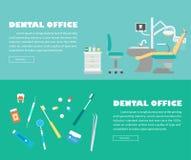 Banner - Flat dentist office illustration Stock Photos