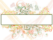 Banner on floral background Royalty Free Stock Images