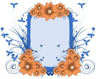 Artistic Colorful floral frame isolated Royalty Free Stock Images