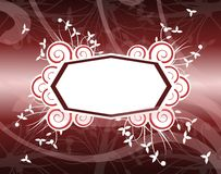 Banner on floral background in red tones Stock Photos