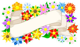 Banner with floral background Stock Photo