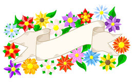 Banner with floral background Stock Images