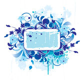 Banner with floral elements Royalty Free Stock Image