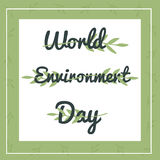 Banner with floral ornament and text for World Environment day. Banner with floral ornament and text for the World Environment day Royalty Free Stock Photo