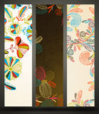 Banner with floral pattern Royalty Free Stock Photos
