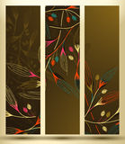 Banner with floral pattern Royalty Free Stock Images