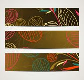 Banner with floral pattern Stock Images