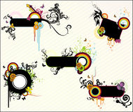 Banner floral vector Stock Images