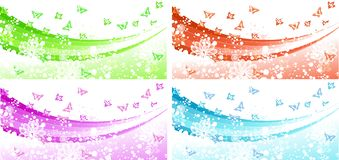 Banner Flower Set Royalty Free Stock Photo