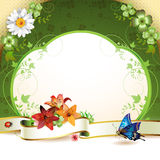 Banner with flowers Stock Image