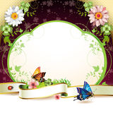 Banner with flowers Stock Photo