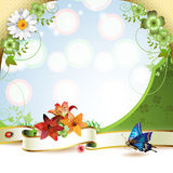 Banner with flowers Royalty Free Stock Photos