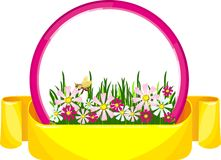 Banner flowers Stock Photography
