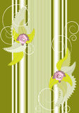 A banner with flowers and column.Banner.Background Royalty Free Stock Photography