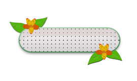 Banner with flowers and leaves Royalty Free Stock Image
