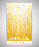 Banner, flyer or invitation to a party on the occasion of the victory of Portugal. Stock Photography