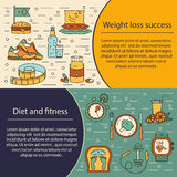 Banner or flyer template. Weight Loss, Diet card. Stock Image