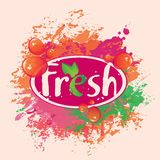 Banner for fresh juices Royalty Free Stock Photography
