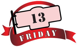Banner by Friday the 13th Stock Photo