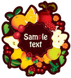 Banner with fruit Stock Image