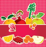 Banner for fruit juice Royalty Free Stock Images