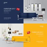 2 Banner Furniture Sale Design Template. Vector Illustration stock illustration