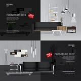 2 Banner Furniture Sale Design Template. Vector Illustration vector illustration