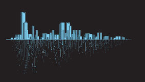 Banner futuristic city Royalty Free Stock Photos