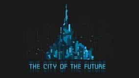 Banner futuristic city Royalty Free Stock Photos