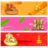 Banner for Ganesh Chaturthi Stock Photo