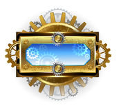 Banner with gears on a white background Stock Photography