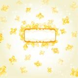 Banner gele glanzende vorm als achtergrond Royalty-vrije Stock Foto
