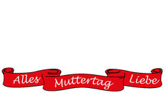 Banner with the german words for all love mother´s day Royalty Free Stock Images