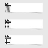 Banner with gift box icon element set illustration Stock Photography