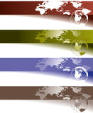 banner globe mapy świata Fotografia Stock