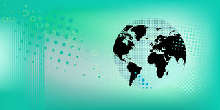 Banner With Globe Vector Illustration Royalty Free Stock Image