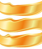 Banner gold abstract shape metal label Royalty Free Stock Image