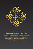 Banner with gold ornaments. On a black background Stock Photography